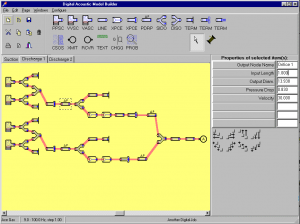 Model Builder allows one person to assemble virtual components on screen, to represent the compressor and piping system under test.